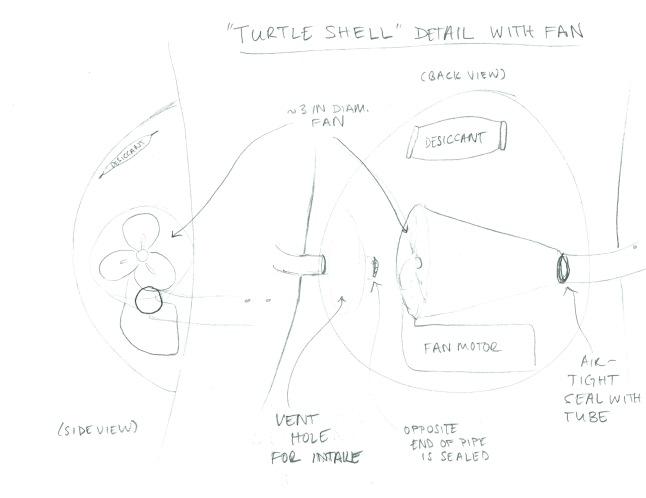 Sketch of fan idea, early iteration