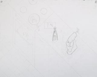 "Juicy Salif and KitchenAid Mixer, Axonometric ""Site"" Plan (Drafted)"