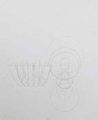 KitchenAid Mixer, Layered Drawing (Drafted)