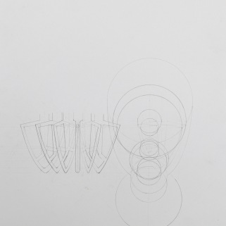 KitchenAid Mixer, Layered Drawing (Drafted)